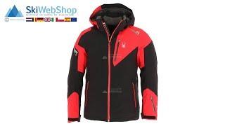 Spyder, Leader, ski-jas, heren, zwart/rood