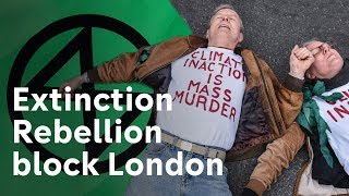 Climate change protest grinds London to a halt