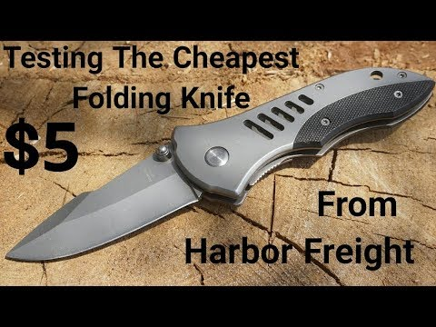 Testing The Cheapest Folding Knife From Harbor Freight