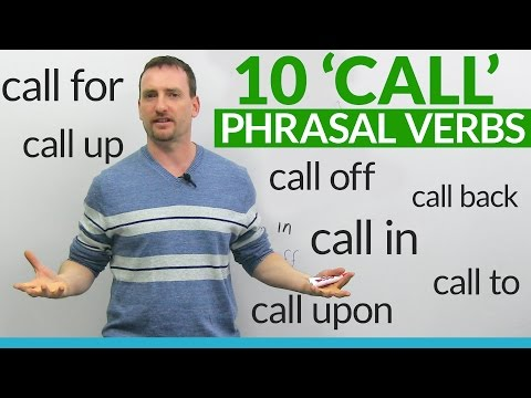 10 Phrasal Verbs with CALL