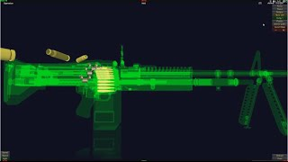 How Does M60 MachineGun Work In 3D Animation