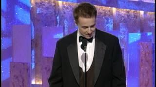 Golden Globes 1997 Edward Norton Wins Best Supporting Actor
