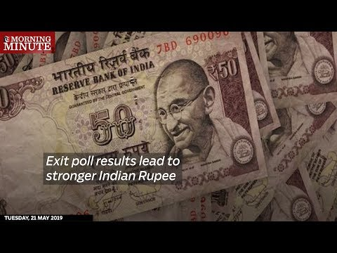 Exit poll results lead to stronger Indian Rupee