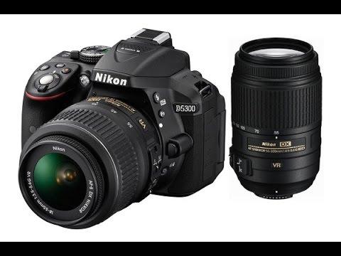 Nikon D5300 18-55 Lens Unboxing with 55-300 Lens