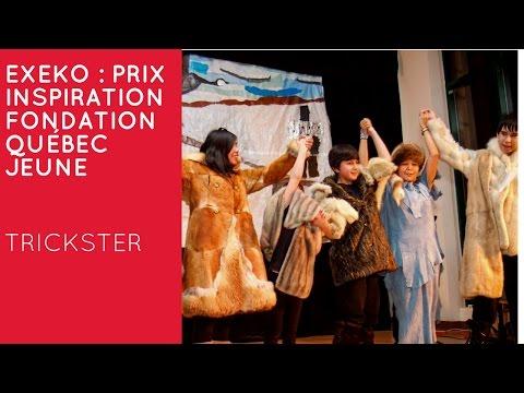 Lors du Gala Accroche-Coeur, la Fondation Québec Jeune a remis le prix Inspiration à l'organisme Exeko, qui favorise l'inclusion sociale par l'art et la philosophie. Le Prix Inspiration souligne, chaque année, les accomplissements d'un organisme partenaire qui se démarque par l'originalité et l'impact de ses projets.  _TRICKSTER  Trickster est un programme culturel consistant en la mise en scène d'un conte traditionnel autochtone. Les jeunes participants (8-16 ans) préparent la mise en scène pendant deux à trois semaines dans la communauté. La particularité? Les contes, légendes et savoirs traditionnels sont transmis oralement par les Aînés. À la fin du programme, les jeunes sont invités à présenter la pièce de théâtre devant les membres de leur communauté.