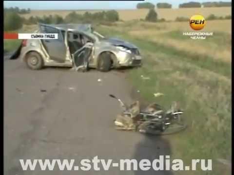 Два колеса попали под четыре