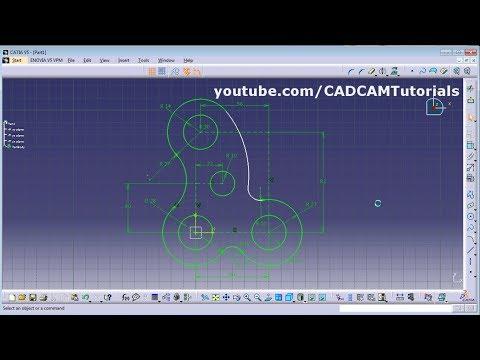 CATIA Training Course Exercises for Beginners - 2 | CATIA Sketcher ...