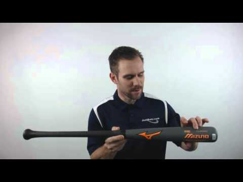 Mizuno Maple/Carbon Composite Wood Baseball Bat Grey/Orange: MZMC271