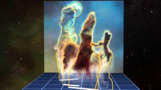 «Столпы Творения»: 3D-визуализация данных наблюдений