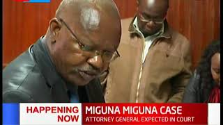 MIGUNA MIGUNA CASE: Attorney General expected in court to explain why orders not followed