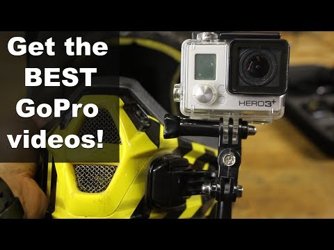 Best GoPro mounts and angles for dirt bike trail riding and motocross videos