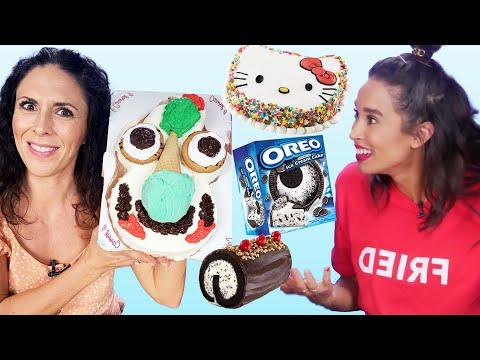 Taste Testing the Best Ice Cream Cakes! (Cheat Day)