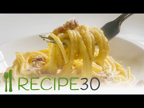 Spaghetti Carbonara the authentic Italian pasta recipe – By recipe30.com