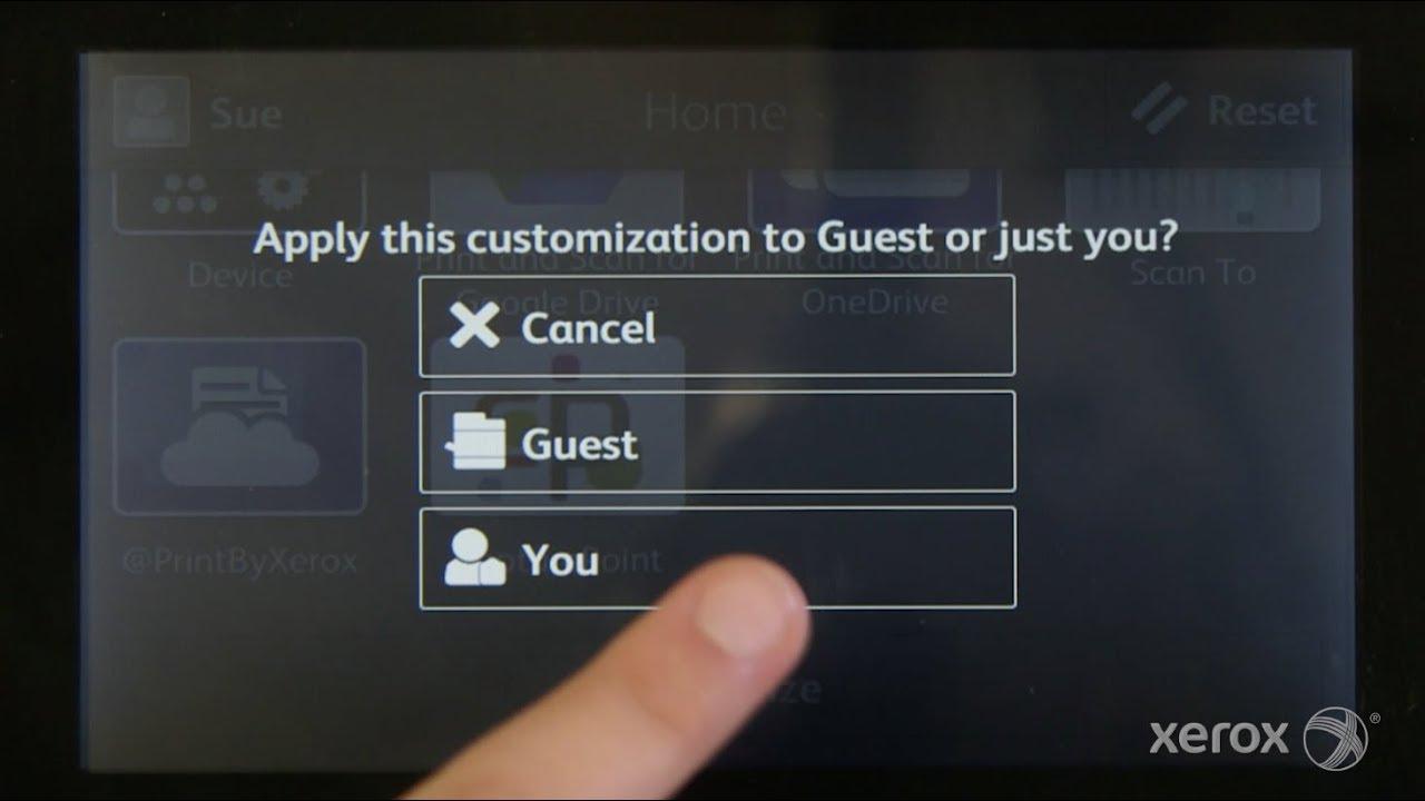 Xerox VersaLink Quick Tip: Personalizing Your Home Screen YouTube Video