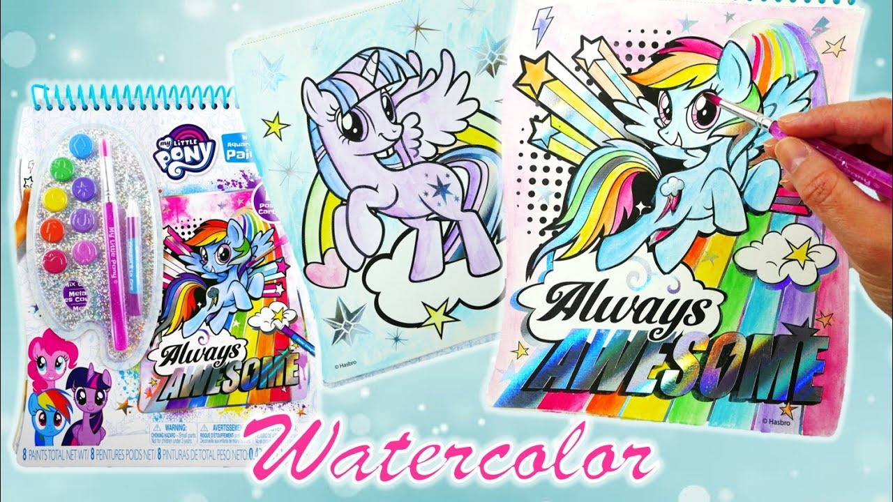 New My Little Pony Coloring Book and Painting MLP Watercolor Paintfolio Speedpaint