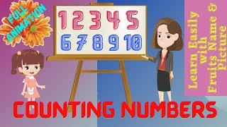 1234 Counting for Kids | Learn 1 to 10 Numbers & Fruit Names | Numbers Counting From 1-10 | 1 to 10|