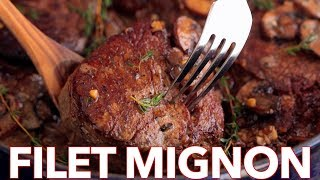 How To Cook Perfect Filet Mignon Recipe In Mushroom Cream Sauce