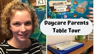 Daycare Parent Table Tour 2019