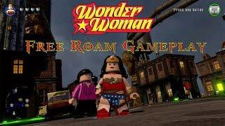 LEGO Dimensions - Wonder Woman Free Roam Gameplay on DC Comics World