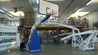 Sport Systems Basketball Backstop Hydroplay Club Manual (hpl Backboard) -- Installation And Use