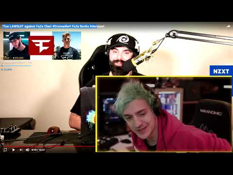 , title : 'Ninja Reacts To DramaAlert Faze Banks Interview about Tfue Lawsuit   FULL REACTION Epic Moments'