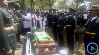 Prison warders honor slain beauty queen Pauline Wangari with a 21 gun