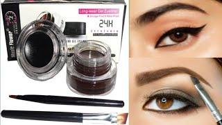 Music Flower Gel Eyeliner Ll Black & Brown Ll Smudgeproof & Waterproof L Review+Demo Ll KOMAL SHARMA