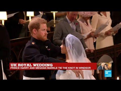 Uk Royal wedding: Prince Harry takes off Meghan Markle''s veil