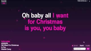 Mariah Carey-All I want for Christmas is you (Karaoke)