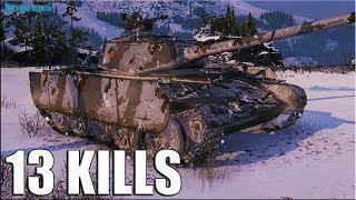 13 фрагов за бой Т-44-100 (Р) World of Tanks