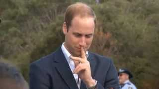 Don't look down! Kate and Wills get close to the edge in the Blue Mountains