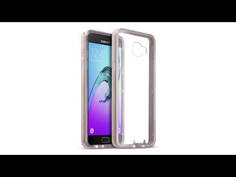 Samsung Galaxy A5 2016 Schutzhülle TPU Hülle + PC Bumper - Gold