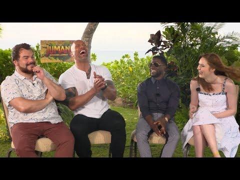 'Jumanji: Welcome to the Jungle' | Unscripted | Dwayne Johnson, Kevin Hart, Jack Black, Karen Gillan (видео)