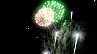 preview picture of video 'Feuerwerk beim Kurparkfest Waldbronn 2014'
