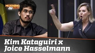 "A troca de ""afagos"" entre Kim Kataguiri e Joice Hasselmann"