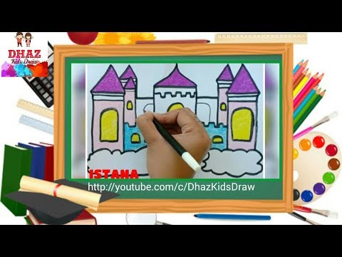 How To Draw And Colouring A Castle Gambar Istana Smotret Onlajn