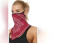 Men Women Face Scarf Bandana Ear Loops Face Balaclava Neck Gaiters For Dust Mask