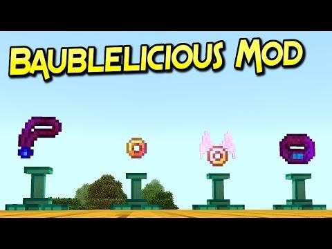 Baublelicious Mod | Accesorios Poderosos  | Minecraft 1.12.2 – 1.7.10 | Review Español