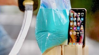 Can Oobleck Save iPhone XS from Katana?
