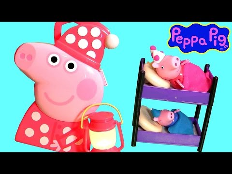 peppa pig bedtime case baby toys play doh surprise eggs peppa