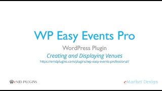 WP Easy Events Pro WordPress Plugin – Venue Management