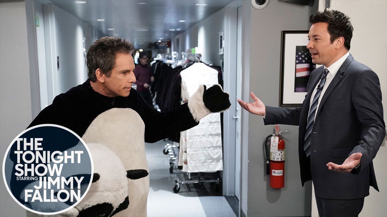 Jimmy Runs Into an Unhappy Ben Stiller and Tina Fey Backstage at The Tonight Show thumbnail