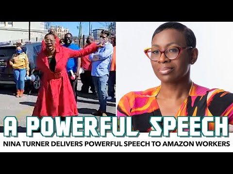 Nina Turner Delivers Powerful Speech To Amazon Workers