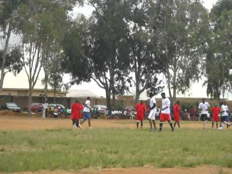 Asa Jauro in action. Novelty ( Canaan High School Staff VS sss3 students).