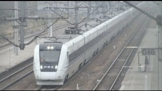 preview picture of video '[CRH009]CRH1A/CRH2A High Speed Train Passing 滬昆線CRH1&CRH2莘庄通過'