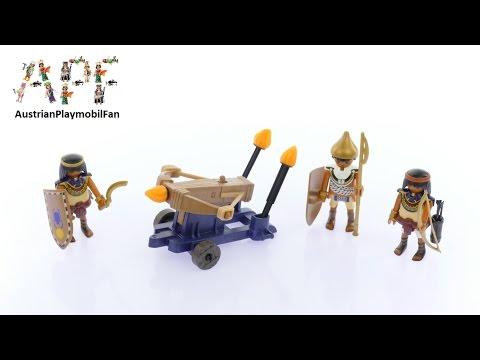 Vidéo PLAYMOBIL History 5388 : Soldats du pharaon avec baliste