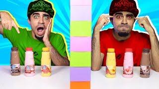 تحدي التوأم بالميلك شيك !!! 😍😱 Twin Telepathy Milkshake Challenge