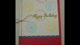 Circle Circus Birthday Card