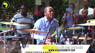 SAGE THE DRUMMER   LIVE SEBEN MIX WERRASON ..PERFORM  AT FESTIVAL DRUMJAM KENYA ANNIVERSARY