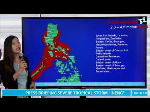 """[Inquirer]  Pagasa update on Tropical Storm """"Ineng"""" (Aug. 24, 11 a.m.)"""